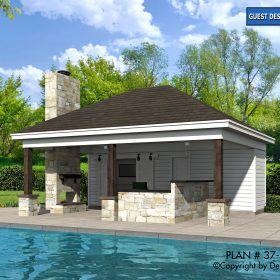 Pool House Plan 37 99
