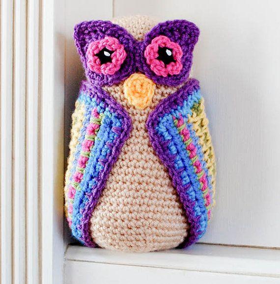 Owl Crochet Pattern Immediate PDF Download by petalstopicots