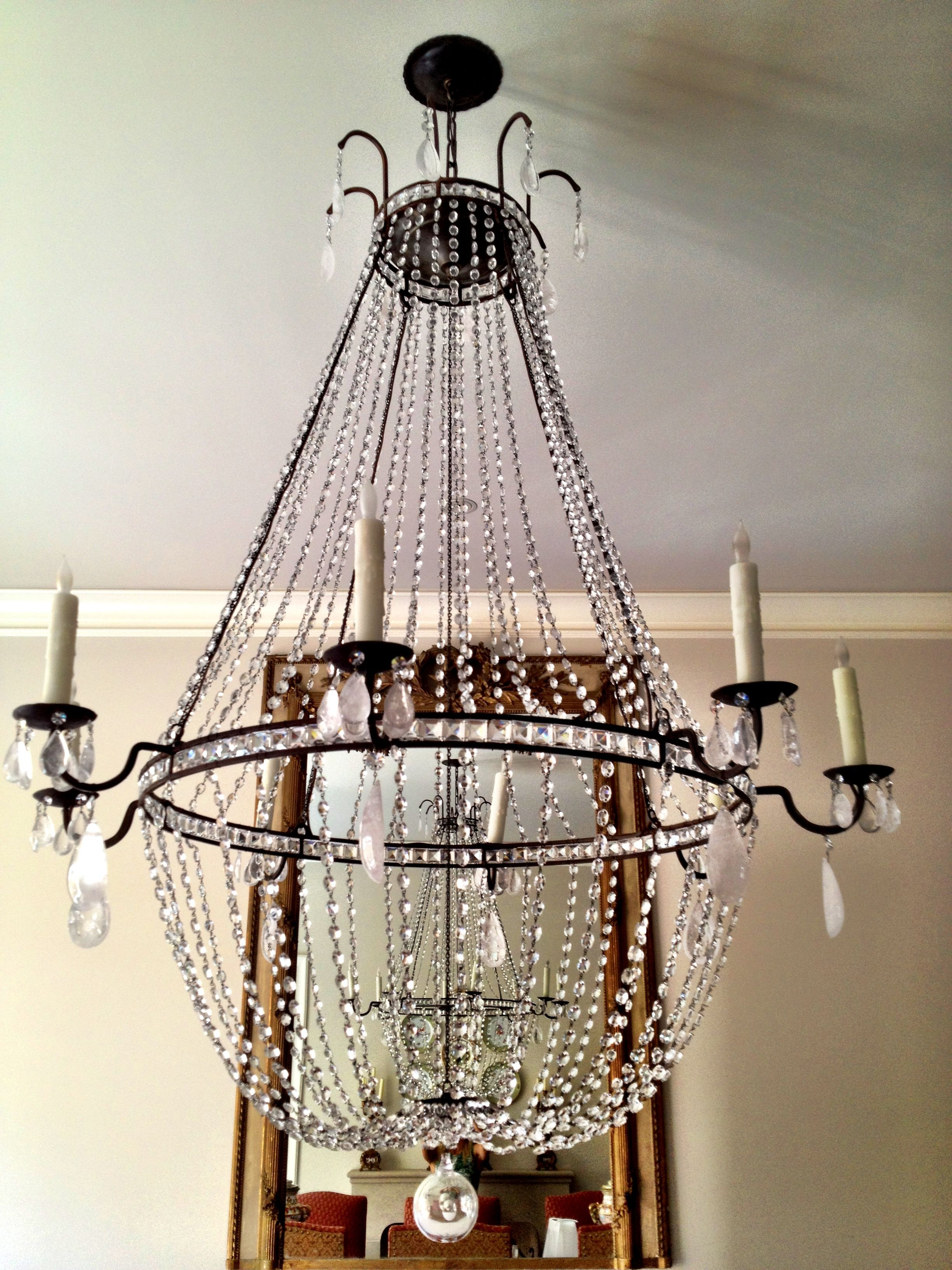 Custom made crystal chandelier customize crystals and dimensions