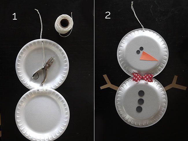 simple foam plate snowmen easy holiday craft for kids & simple foam plate snowmen easy holiday craft for kids | Craft foam ...
