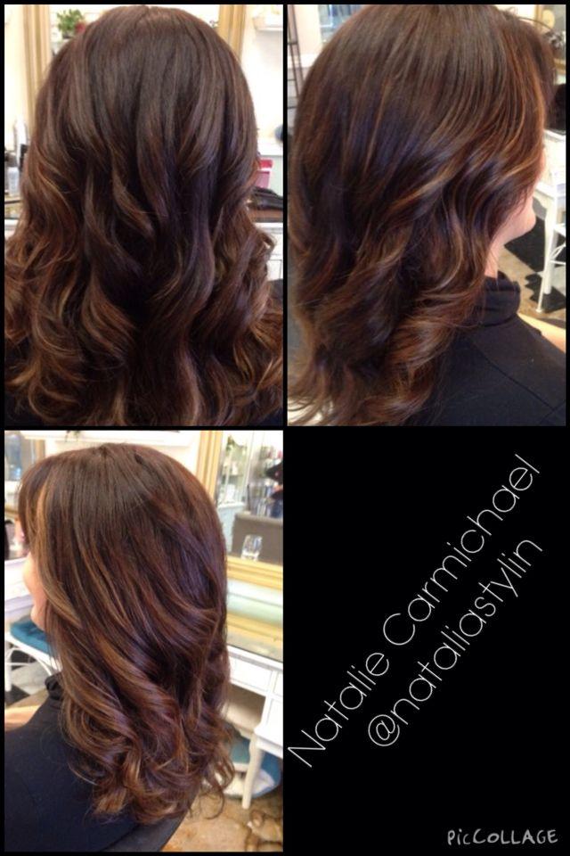 Balayage Haircolor Mahogany Chestnut Soft Color Melt My Work