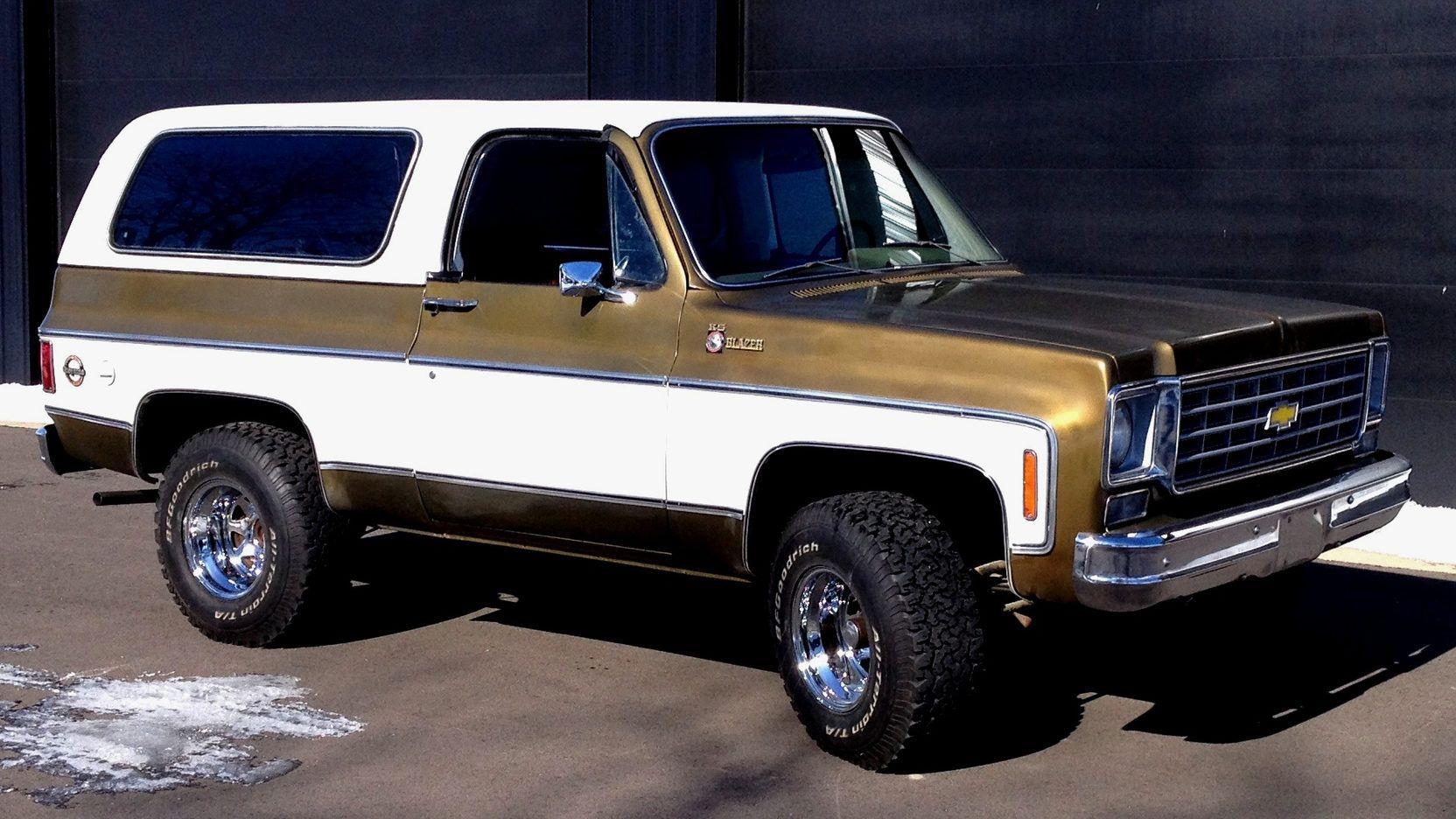 1975 Chevrolet K5 Blazer Presented As Lot T75 At Kansas City Mo K5 Blazer Chevrolet Blazer Chevy Trucks
