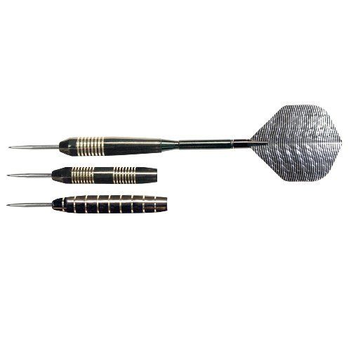 Nodor Gunmetal Steel Tip Darts by Nodor. $14.13. NODOR Gunmetal Steel-tip Dart Set features: Aluminum spinning shafts, Gunmetal finish, 20, 22, and 24 gram (gram weights will vary), Set Includes: 3 darts with spare flights and shafts, and Slim Trac case. One year warranty against defects.. Save 17% Off!