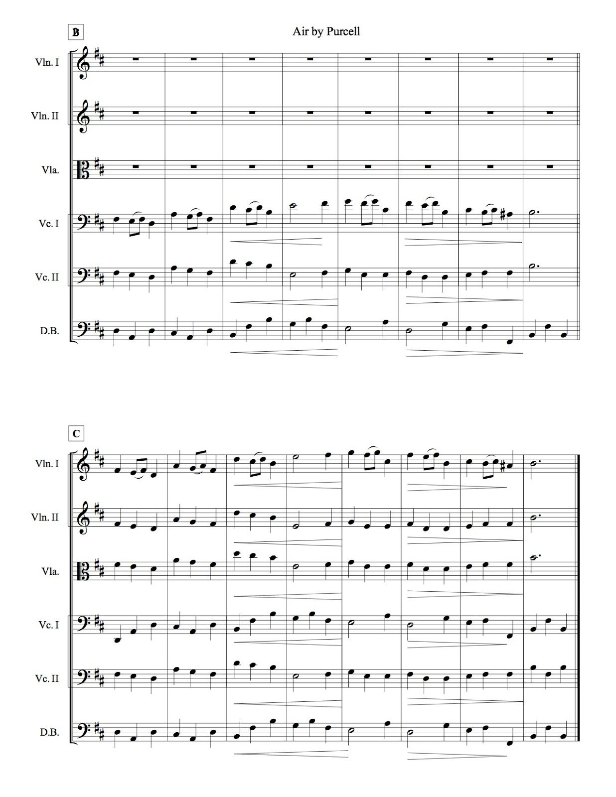 Free sheet music, arrangements, resources for string players