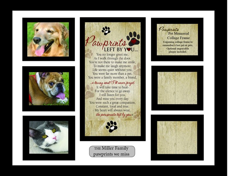 Pawprints Collage Frame | pet memorials | Pinterest | Poem and ...