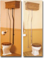 Pull Chain Toilet Oak Pullchain Toilet From Shop 4 Classics  House Ideas  Pinterest