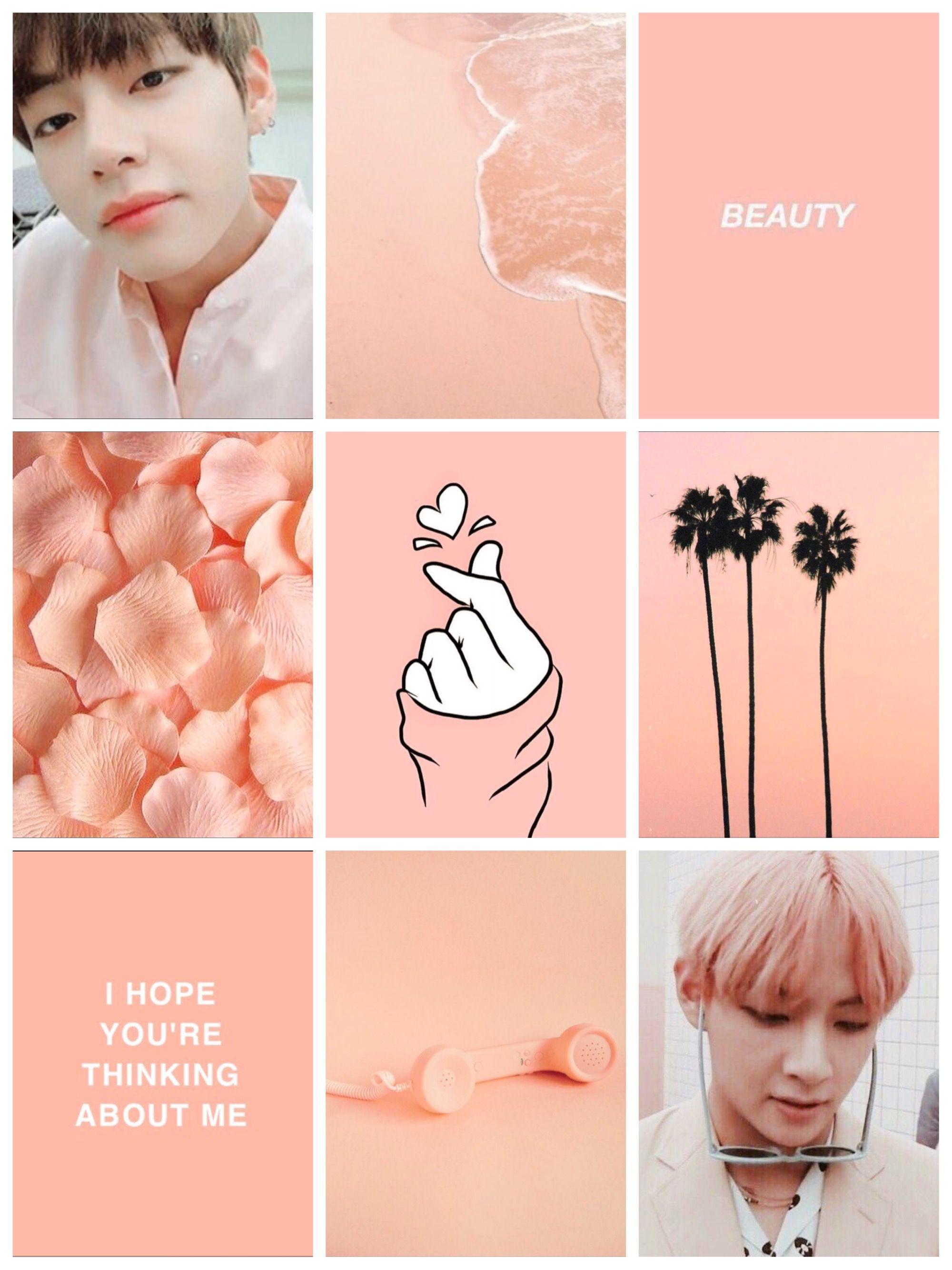 Peach aesthetic w. Taehyung