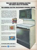 Ge Microwave Cooking Center Range 1978 Ad Picture