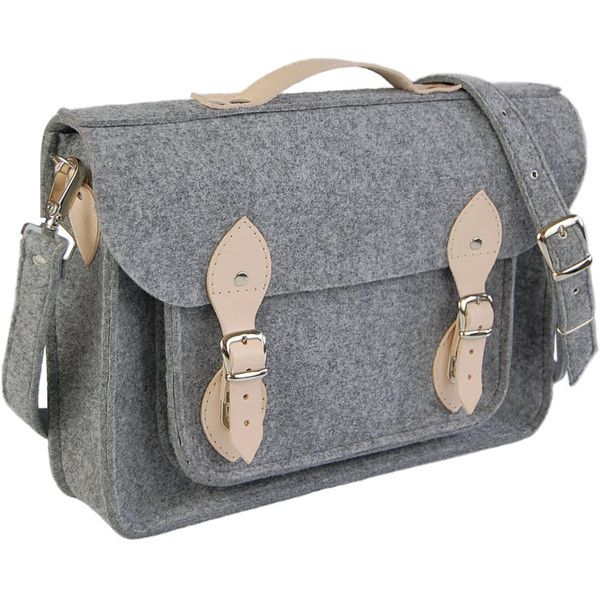 MacBook Pro 13 inch bag , satchel, Laptop bag, case, felt messenger... ($64) ❤ liked on Polyvore featuring bags, messenger bags, macbook pro messenger bag, felt messenger bag, satchel handbags, messenger bag satchel and satchel messenger bag
