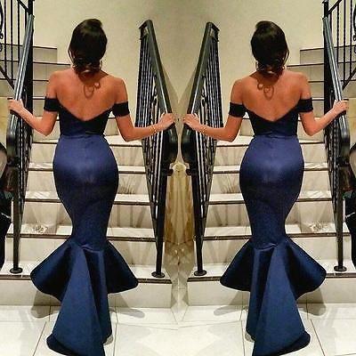 Sexy Women's Formal Fishtail Mermaid Elegant Long Party Evening Dress Maxi Dress