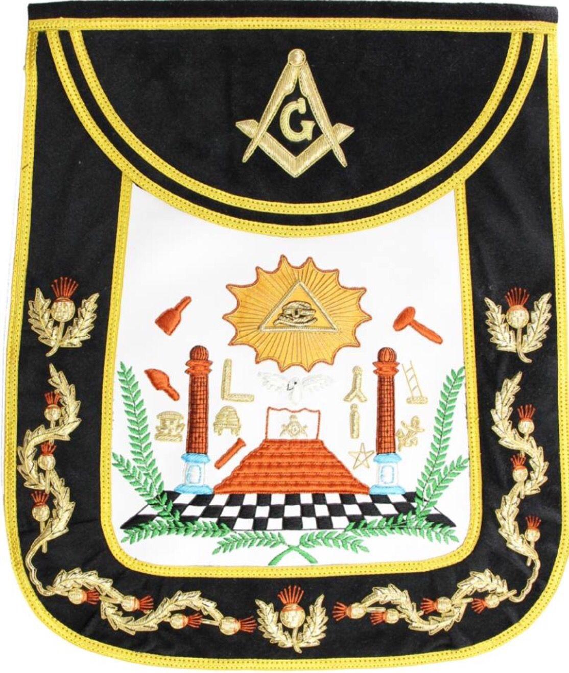 White apron freemason - Master Mason Apron