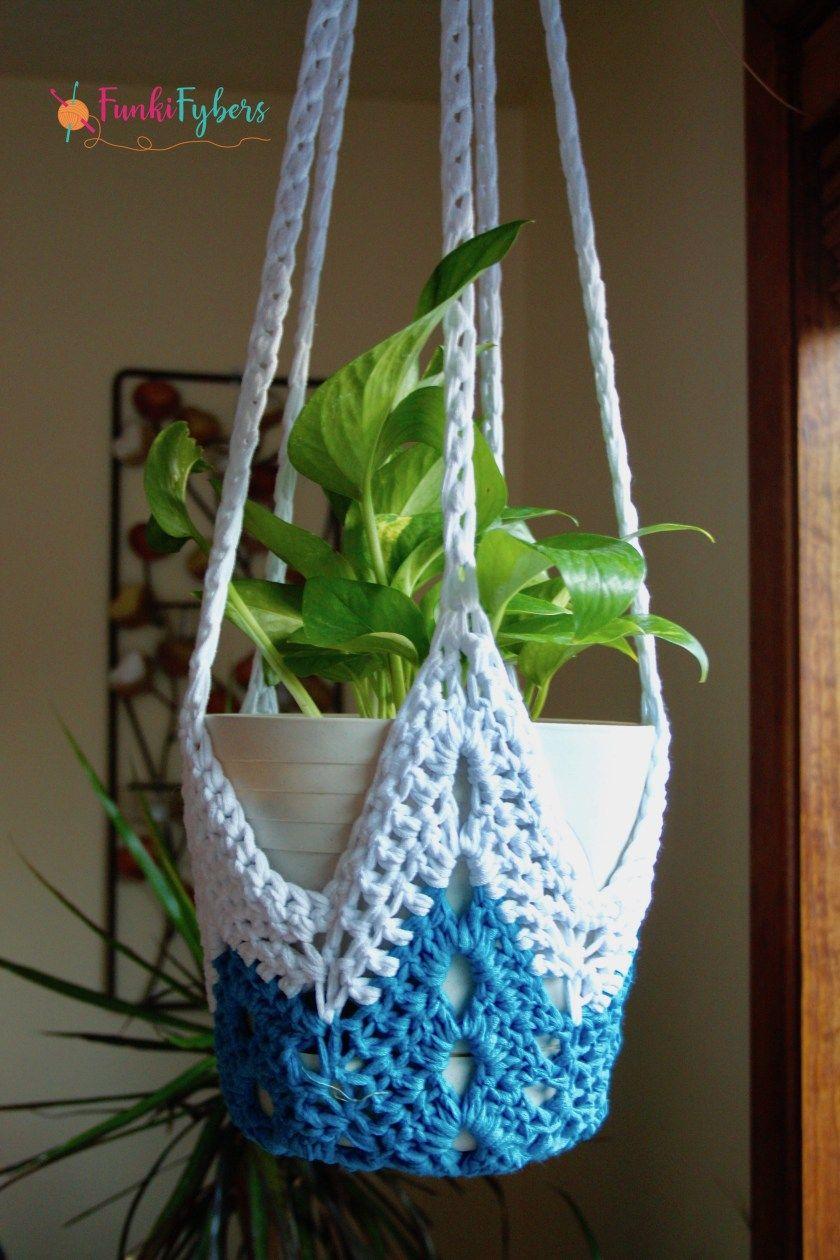 never-ending star plant hanger free crochet pattern | artesanato ...