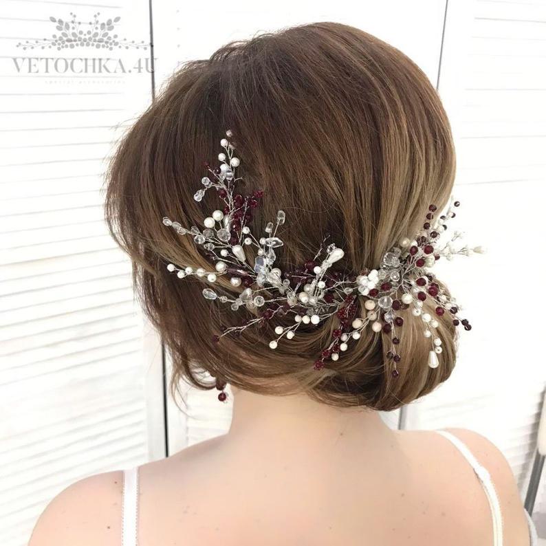 Bridal hair vine Emerald green crown Wedding Boho Headband Silver leaves tiara Wedding Hairpiece Emerald Crystal Silver emerald headpiece