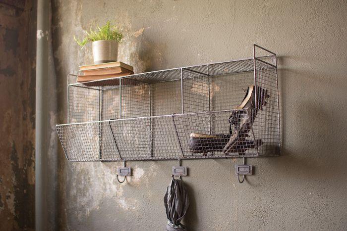 Wire Wall Storage Baskets With Hooks Wall Basket Storage Wire