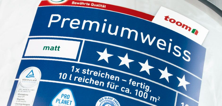 Premiumweiss Packaging Der Toom Qualitatsmarke Bei Toom Baumarkt Diy Toom Toombaumarkt Valyu Packaging Toom Baumarkt Baumarkt Planet