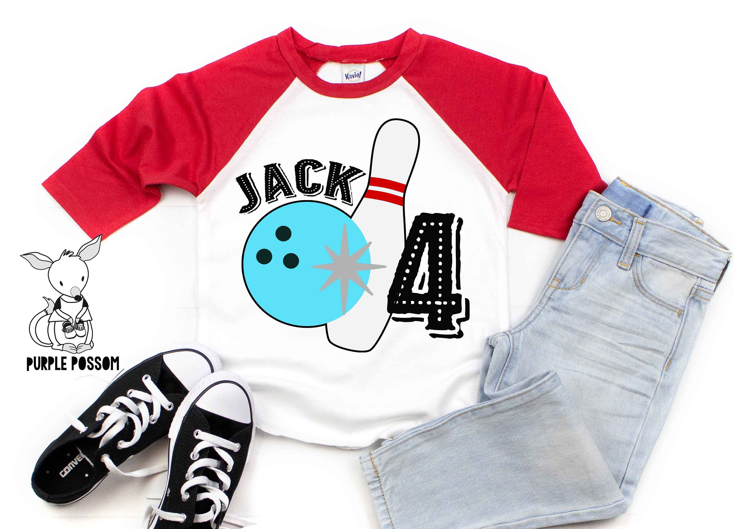 Kids Bowling Party Shirt Name and Number shirt Bowling Birthday Shirt Any Age and Name Bowling Kids Birthday Party Tshirt