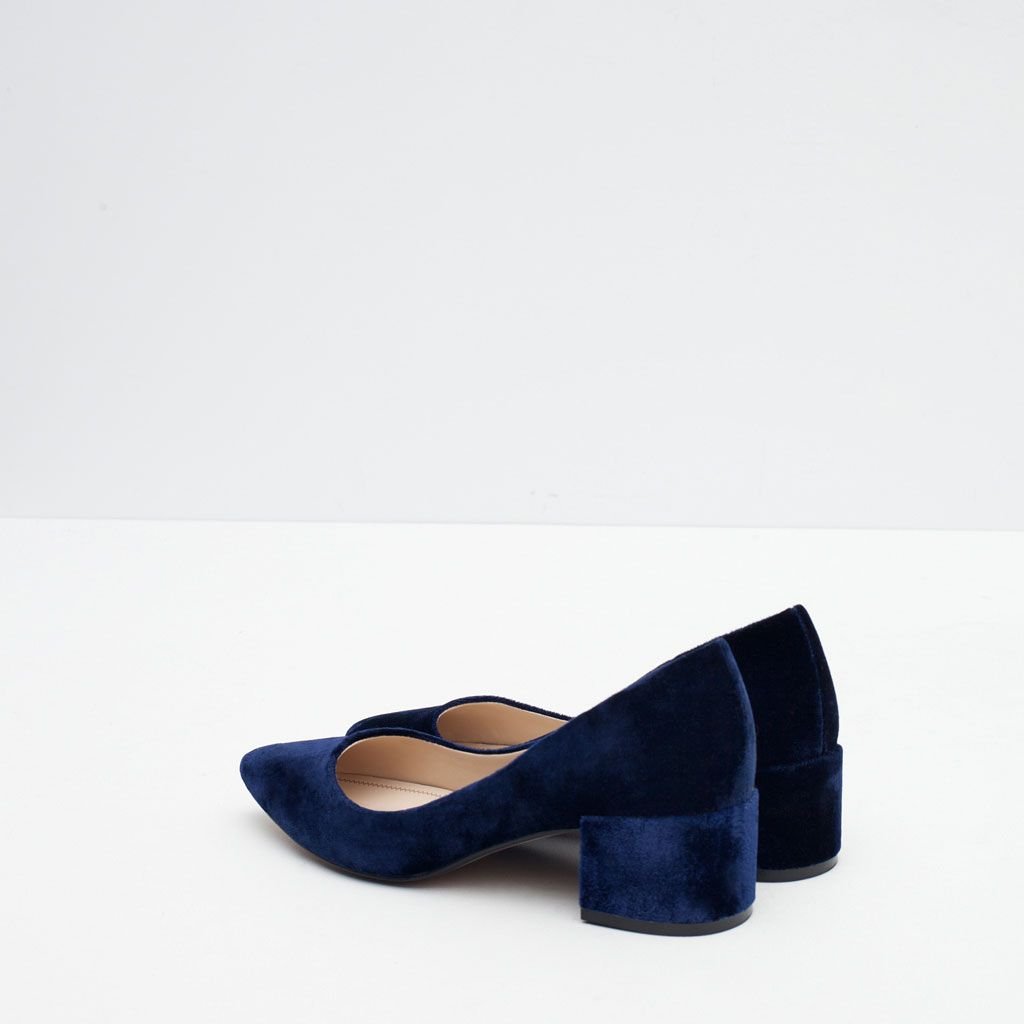 045eef3f98b Image 3 of BLOCK HEEL VELVET SHOES from Zara