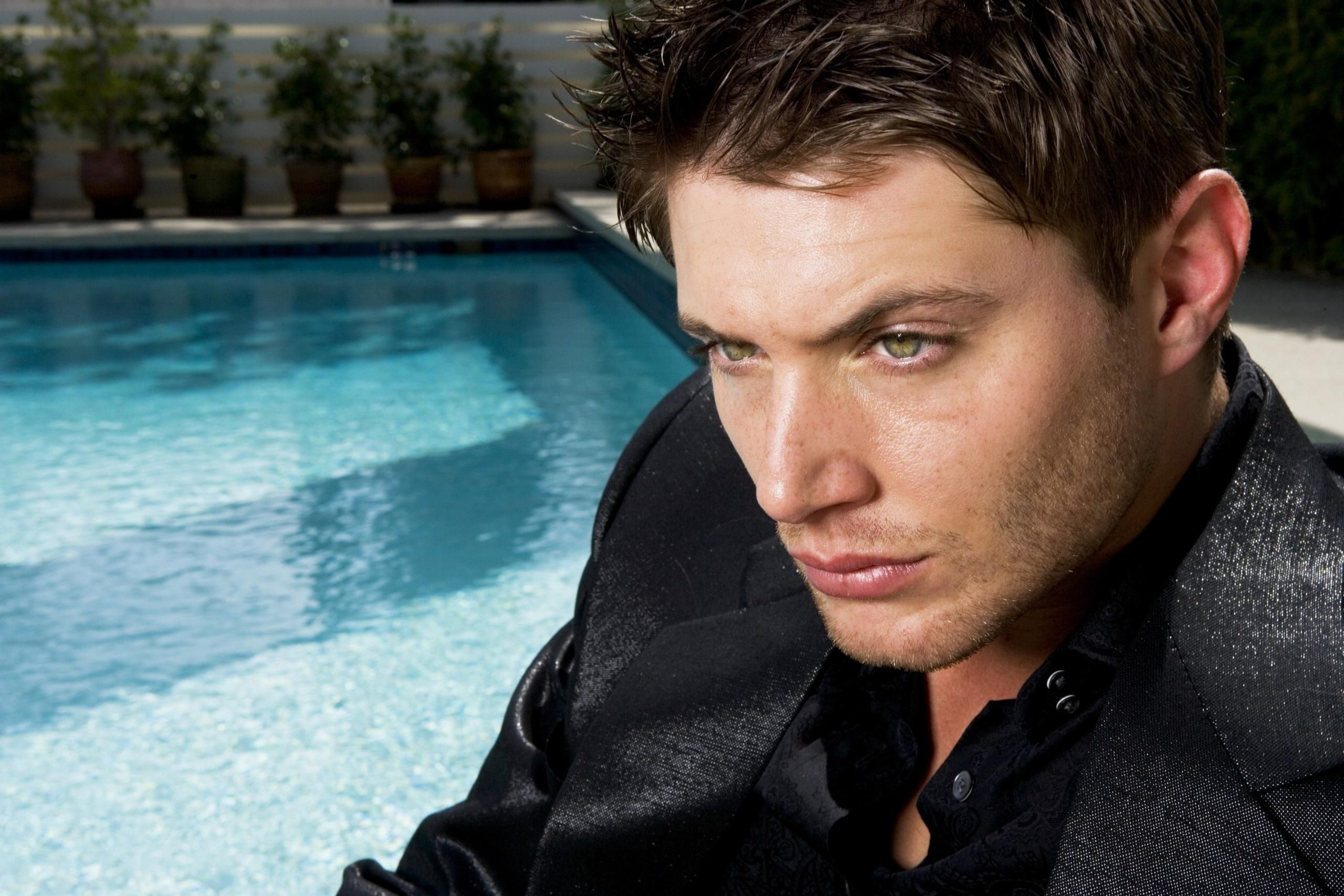 Jensen Ackles Celebrity Face Eyes Brooding Wallpaper