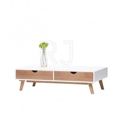 Mary Scandinavian Style Coffee Table Natural Warm White