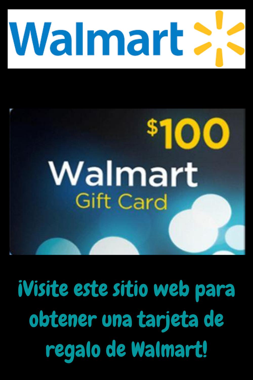 Visite Este Sitio Web Para Obtener Una Tarjeta De Regalo De Walmart Gift Card Cards Walmart
