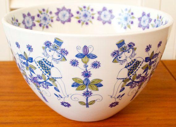 soup bowl 5 inches blue,vintage,midcentury,Turi Gramstad Figgjo Lotte Norway rare fruit bowl bowl cereal bowl