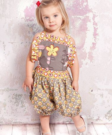 a2f5725ab20 Take a look at this Gray Indian Summer Isla Romper - Infant by Jelly the Pug  on  zulily today!