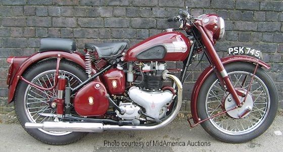 The First Plunger Frames Eared At Earls Court Motorcycle Show In 1948 Were Used Production On Top Of Line 1949 Bsa 500 Star