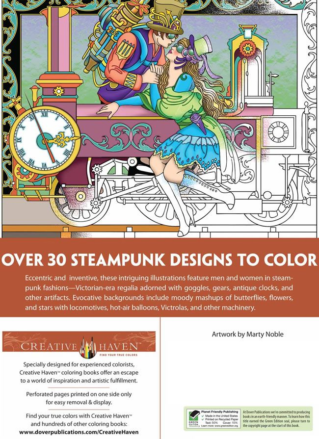 Welcome To Dover Publications Creative Haven Steampunk Designs Coloring Book