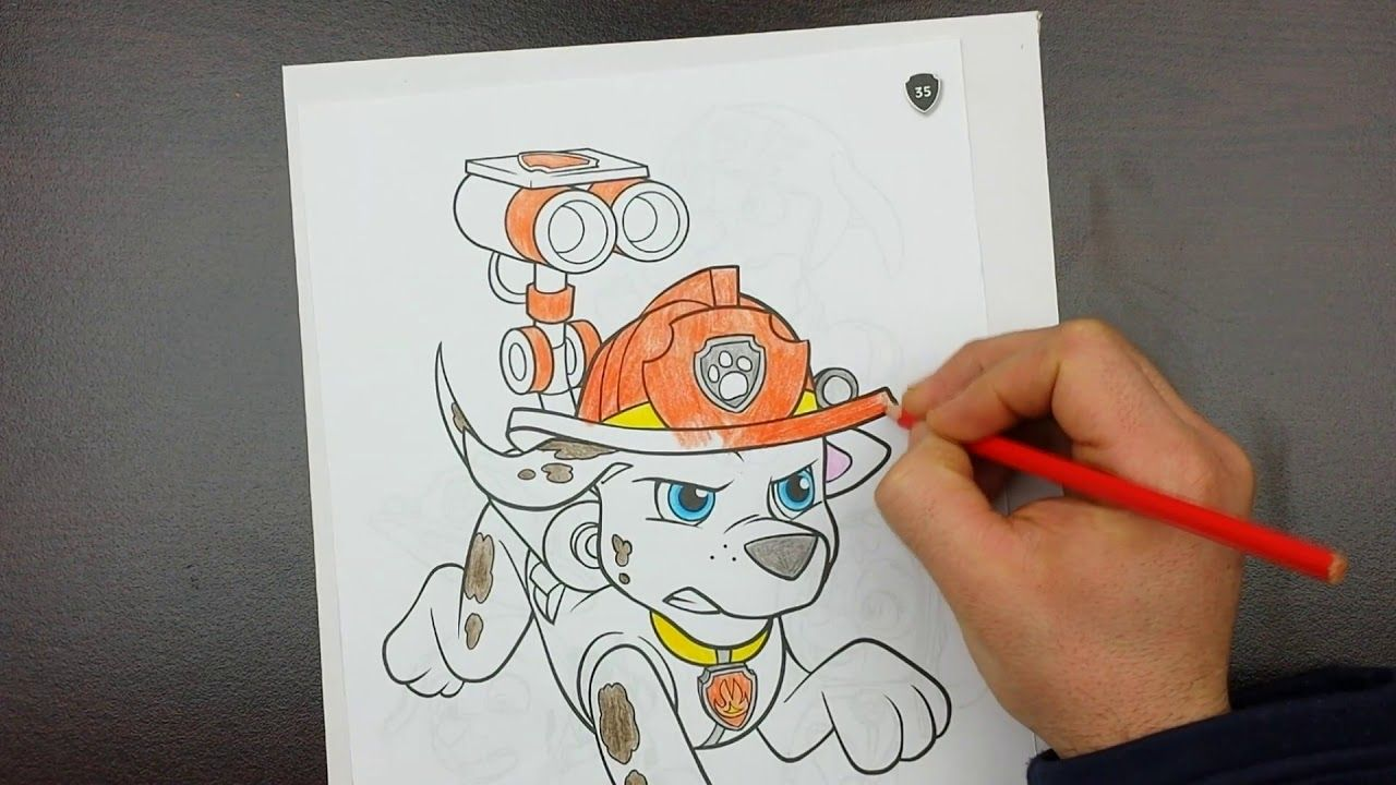 Coloring Pages Of Paw Patrol : Paw patrol coloring pages coloring angry marshall dreamland