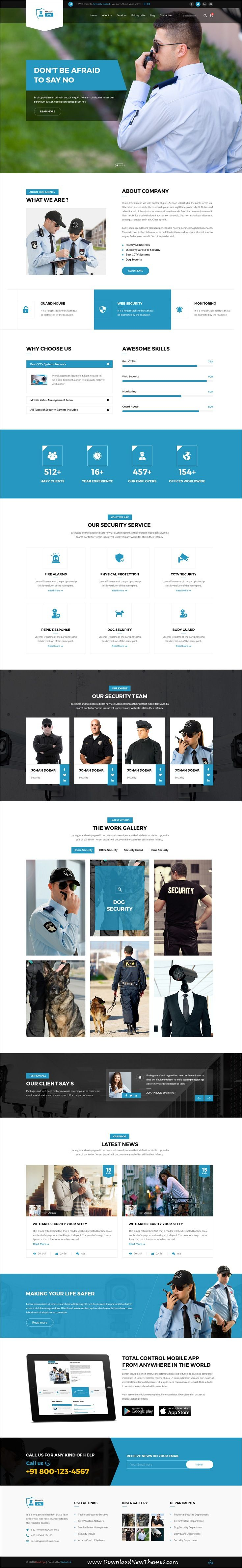 Hawkeye Is Clean And Modern Design Psd Template For Security Cctv Police And Guarding Services Website With 2 Homepage Layouts Diseno Web Disenos De Unas