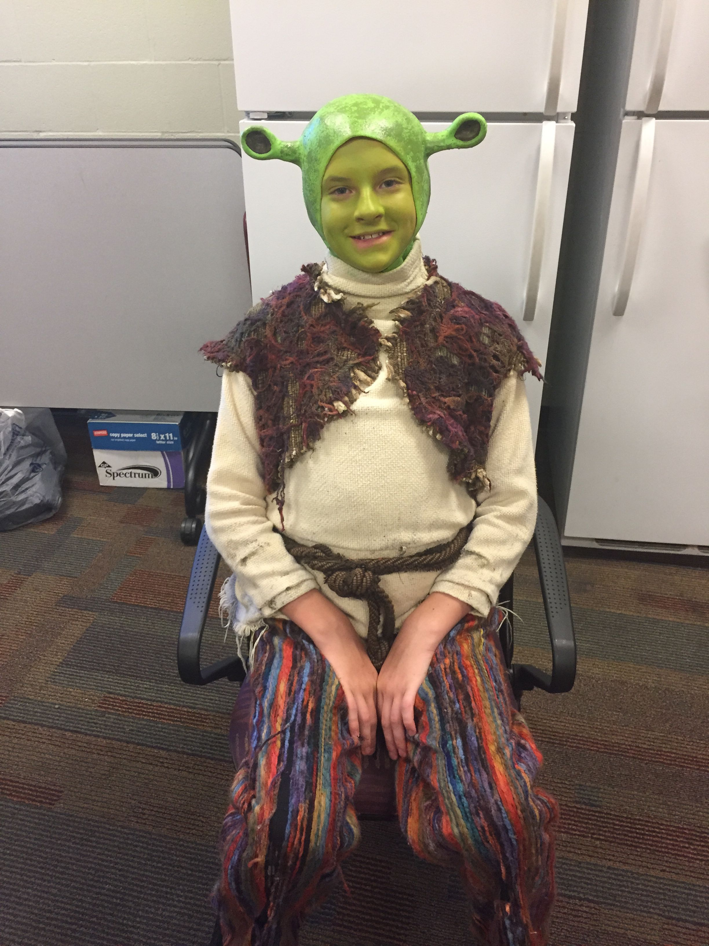 Jameson Elton playing Young Shrek. ShrekTheMusical