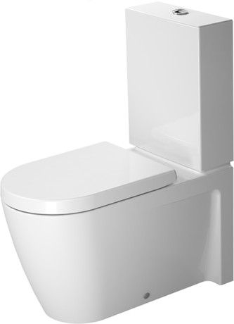 Duravit 212909 Starck 2 14-3/4 x 28-3/8 Inch Close-Coupled Toilet ...