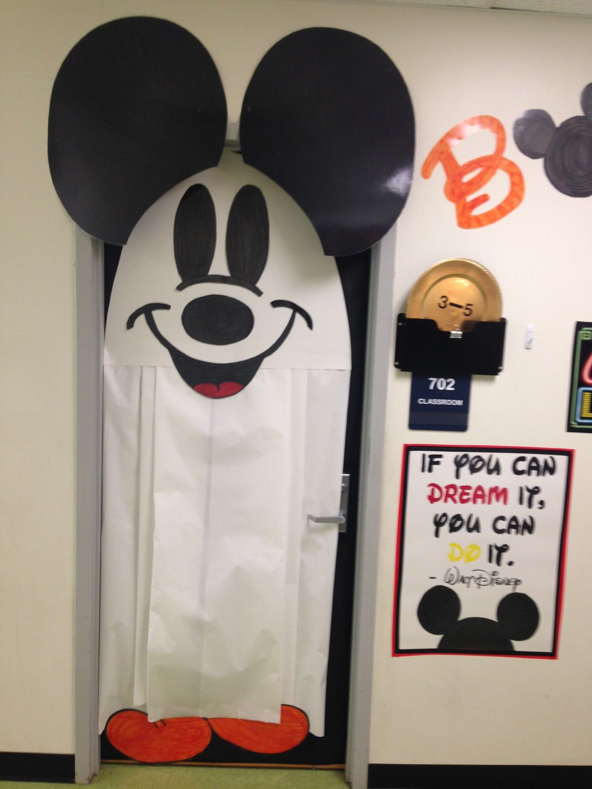 Mickey Mouse Ghost Door …