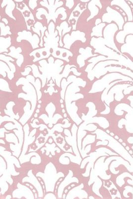 Pink Damask Wallpaper For Libbys Focus Wall