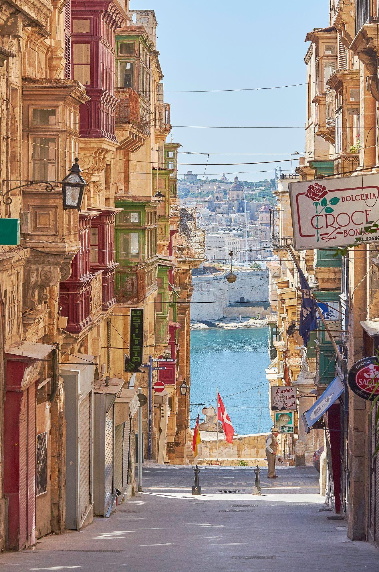 Valletta Malta Street Map