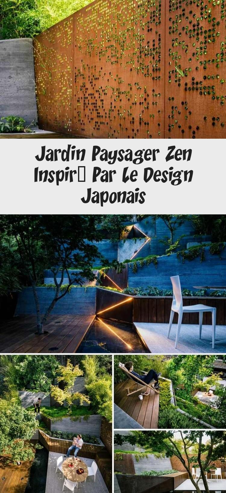#Jardins et terrasses Jardin paysager zen inspiré par le design japonais #Jardin #paysager #zen #inspiré #par #le #design #japonais #Landschaftsgarten #landschaftsgarten