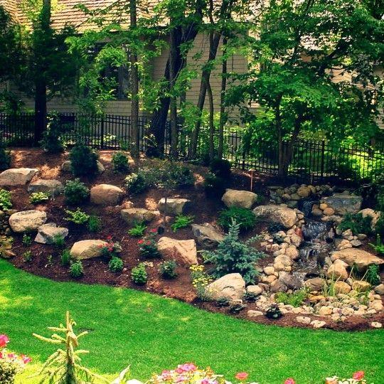 Landscaping On Slope Sloped Garden Landscaping With Rocks Hillside Landscaping