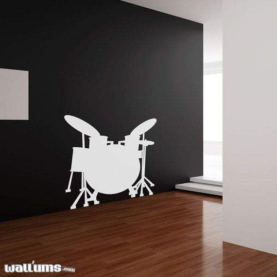 Drumset Wall Decal 40 wide x 42 high by WallumsWallDecals on Etsy, $49.99