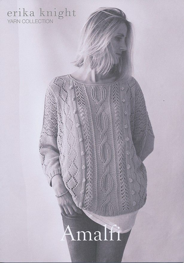 Amalfi in Erika Knight Studio Linen | Erika Knight Knitting Patterns | Knitting Patterns | Deramores