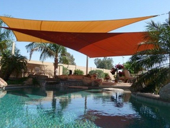 Fabric shade structures custom tension structures for Garden pool covers
