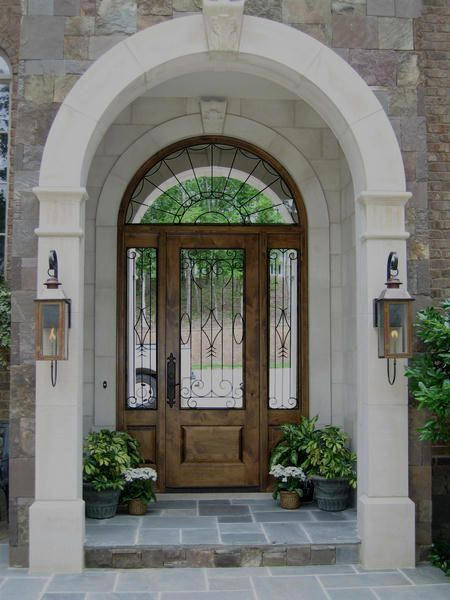 Country French Exterior Wood Entry Door Style DbyD-2044 | Front ...