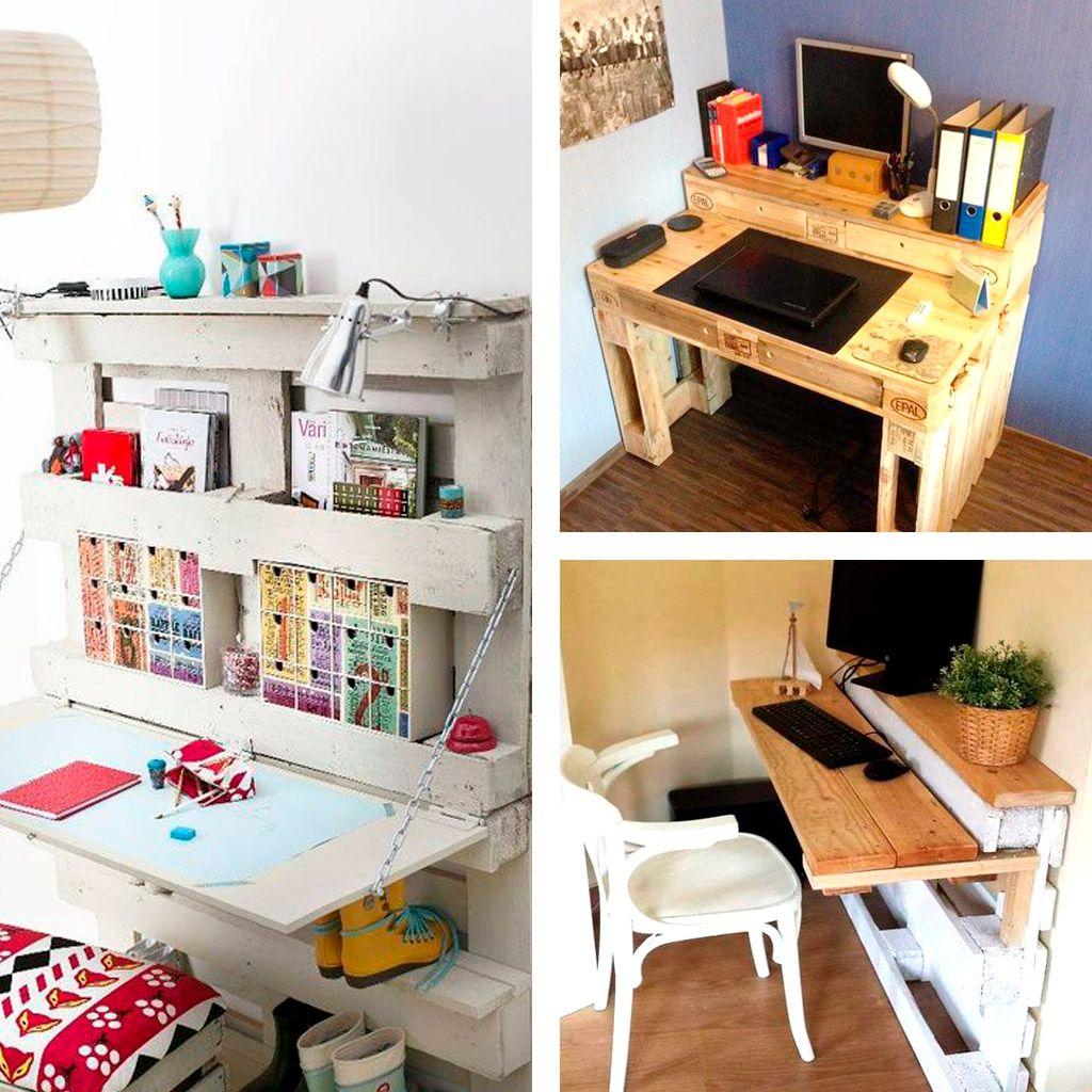 Mesas escritorio con palets mesas de palets pinterest for Mesas hechas con palets