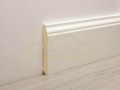 Rodapie lacado blanco pecho paloma rodapi lacado blanco - Rodapie de madera ...