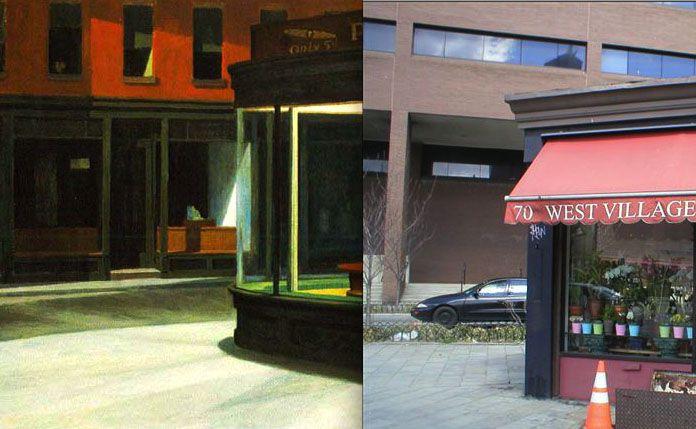 Nighthawks By Edward Hopper Most Probable Painting Location Most Famous Paintings Edward Hopper Nighthawks