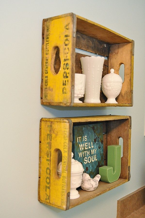 Image Result For Wine Boxes As Shelves Bathroom Crate Decor
