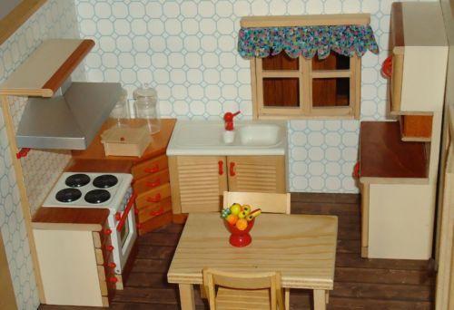 HOCHWERTIG-PuppenhausEinrichtung HOLZ Bodo HENNIG Küche-VINTAGE in