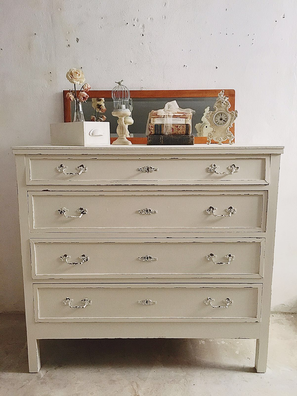antique Chest of drawers shabby chic Cassettiera shabby chic ...
