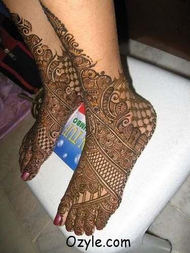 pakistani arabic mehndi design bridal