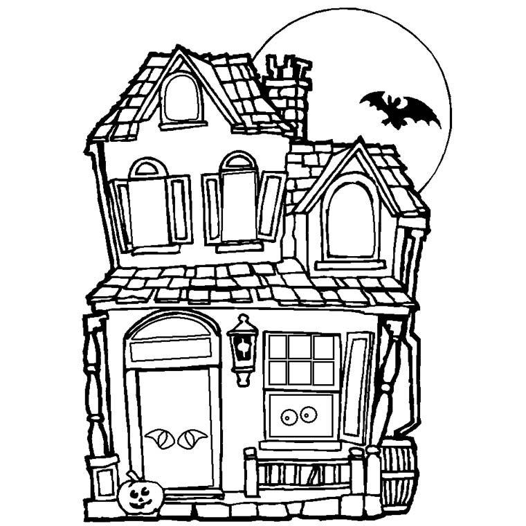Coloriage Maison à colorier - Dessin à imprimer Projets à essayer - dessin de maison a imprimer