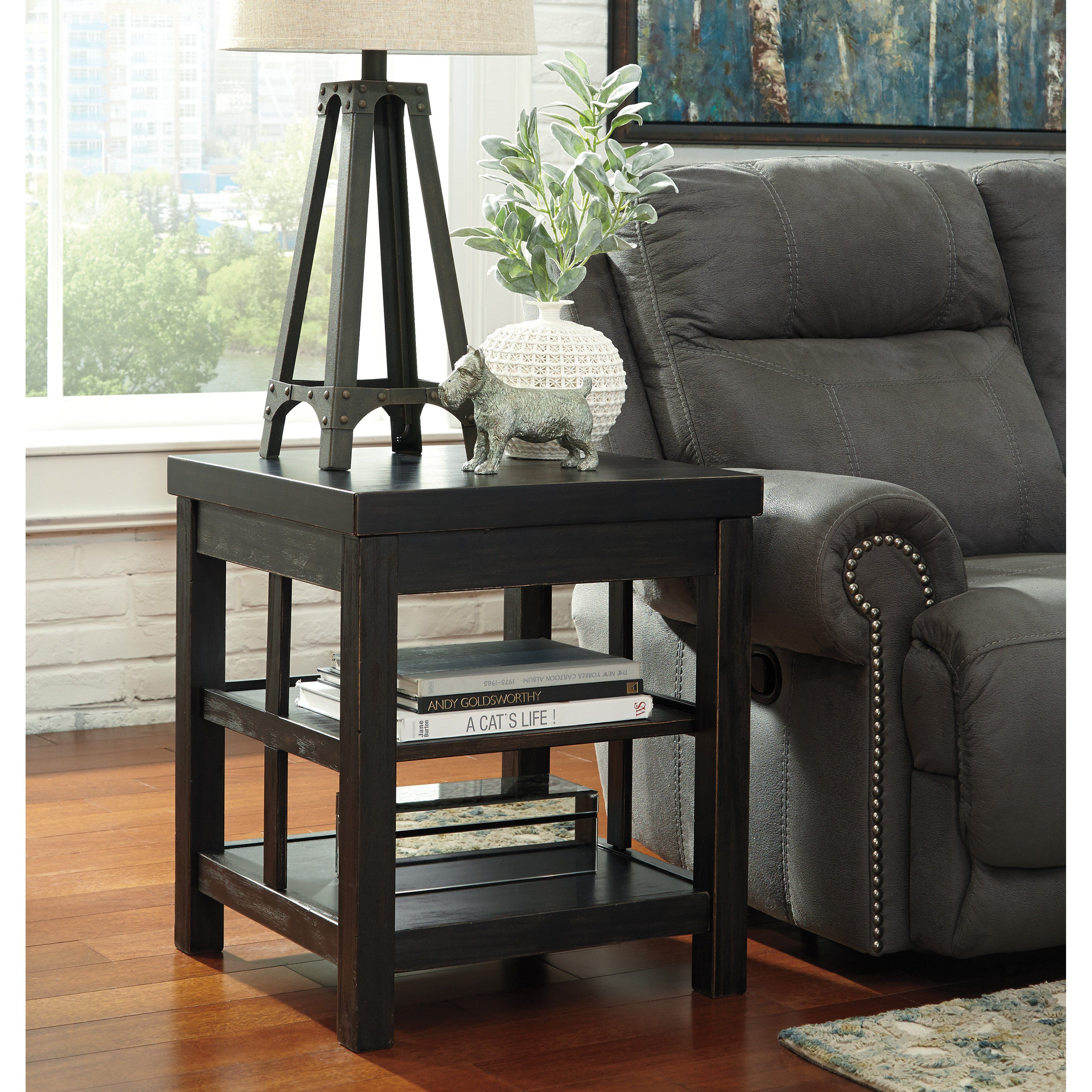 Best Signature Design By Ashley Gavelston End Table From 400 x 300